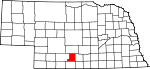 Map of Nebraska showing Gosper County