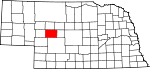 Map of Nebraska showing McPherson County