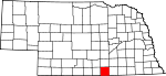 Map of Nebraska showing Webster County