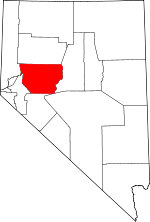 Map of Nevada showing Churchill County