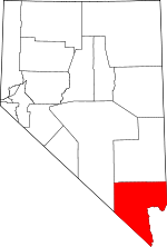 Map of Nevada showing Clark County