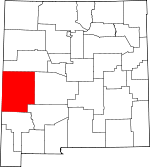 Map of New Mexico showing Catron County