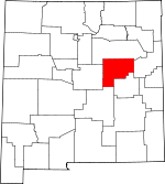 Map of New Mexico showing Guadalupe County