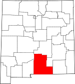 Map of New Mexico showing Otero County