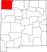 Map of New Mexico showing San Juan County