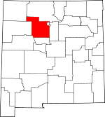 Map of New Mexico showing Sandoval County
