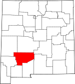 Map of New Mexico showing Sierra County