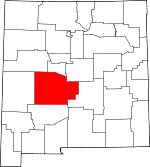 Map of New Mexico showing Socorro County
