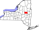 Map of New York showing Fulton County