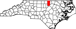 Map of North Carolina showing Granville County