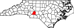 Map of North Carolina showing Stanly County