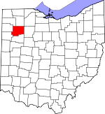 Map of Ohio showing Putnam County