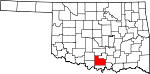 Map of Oklahoma showing Carter County
