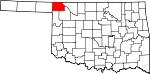 Map of Oklahoma showing Harper County