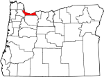 Map of Oregon showing Multnomah County
