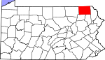 Map of Pennsylvania showing Susquehanna County