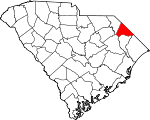 Map of South Carolina showing Dillon County