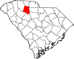 Map of South Carolina showing Union County