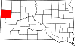 Map of South Dakota showing Butte County