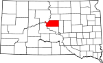 Map of South Dakota showing Sully County