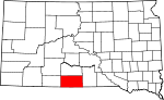 Map of South Dakota showing Todd County