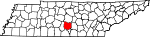 Map of Tennessee showing Bedford County