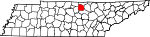 Map of Tennessee showing Jackson County