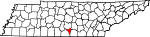 Map of Tennessee showing Moore County