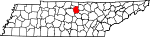 Map of Tennessee showing Smith County