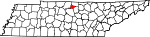 Map of Tennessee showing Trousdale County