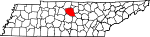 Map of Tennessee showing Wilson County