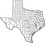 Map of Texas showing Delta County