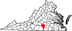 Map of Virginia showing Charlotte County
