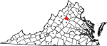 Map of Virginia showing Greene County